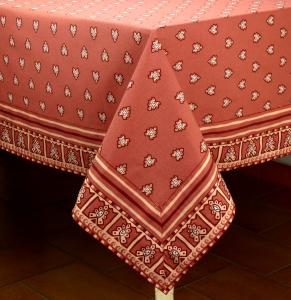 "Provencal Rectangle Cotton Tablecloth Bric ""Roussillon"" 67"" x 88,5"
