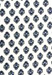 """White Bastidin"", 100% Provencal country cotton fabric 67"
