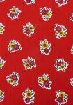 """Red Flowers"", 100% French country cotton fabric 55"""