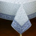 "Provencal Square Cotton Tablecloth White ""Bastidin"" 63"" x 63"