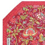 "Octogonal Provencal quilted cotton Placemat Red ""Colombes"