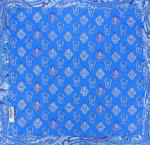 "Square Provencal Table Mat Blue ""Calissons"" pattern"