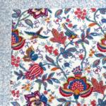"Square French Table Mat Ecru ""Colombes"" pattern"