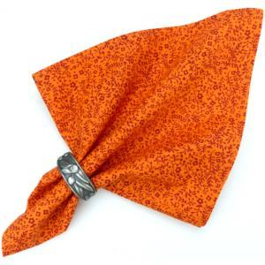 "Provencal Cotton Napkin Orange ""Fleur de sel"