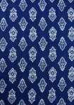 """Blue/White Calissons"", 100% mercerized printed fabric"
