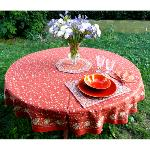 "Provencal Round Cotton Tablecloth bric ""Country"" 71"