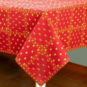 "Provencal Square Cotton Tablecloth Red ""Patchwork"" 45"" x 45"