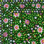 "French country cotton placemat Green ""Spring"" 12x18 inches"