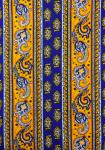 """Yellow Lotus"", French Border Stripe Fabric 59"""