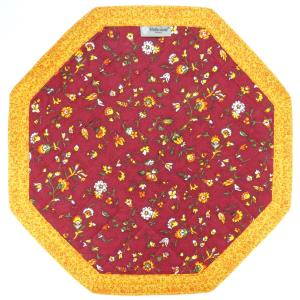 Octogonal French Country Cotton Placemat Red