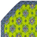 "Octogonal Reversible Quilted Cotton Placemat Green ""Batiste"""