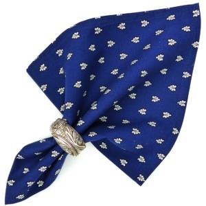 "Provencal Cotton Napkin Blue ""Bees"