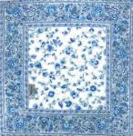 "Square Quilted Table Mat White/Blue ""Country"