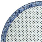"Provencal Quilted Round Table Mat White ""Lavender"
