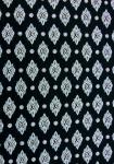 """Black Calissons"", 100% Provencal country cotton fabric 67"