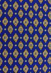 """Blue Calissons"", 100% Provencal cotton country fabric 67"""