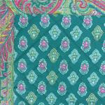 "Provencal reversible Placemat Emerald ""Calissons"" 14x18''"
