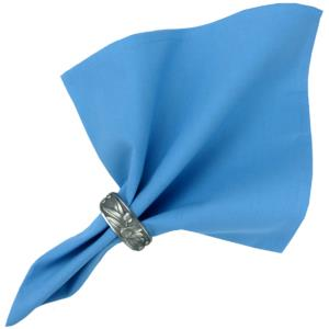 Provencal Cotton Table Napkin - Plain Light Blue