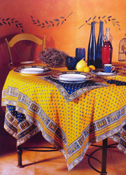 Provencal cotton tablecloths