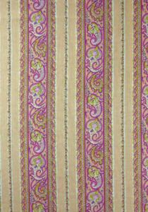 """Pink Cashmere"", French Border Stripe Fabric 55"