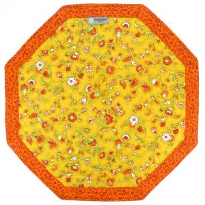 Octogonal French Country Cotton Placemat Yellow