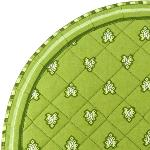 "Provencal Quilted Round Table Mats Green ""Roussillon"