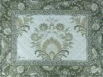 "French Quilted Cotton Taupe color Placemat ""Haveli"" 14x18''"