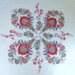 "Square Cotton Tablecloth Raspberry pattern Haveli"" 63""x63"""
