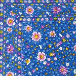 "French country cotton placemat Blue ""Spring"" 12x18 inches"