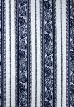 """Blue/White Cashmere"", Border Stripe Fabric 55"