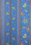 """Honeymoon"" Blue Border Stripe Fabric 55"""