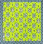 "Square French Table Mat Green ""Batiste"" 30x30"