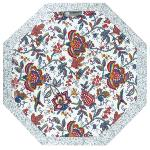 "Octogonal Provencal quilted cotton Placemat Ecru ""Colombes"
