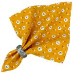"French Cotton Napkin Yellow ""Flowers"" authentic Provencal design"