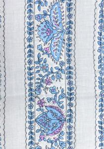 """White/Blue Country"", 100% mercerized cotton percale precut stripe 4"