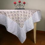 "Provencal Square Cotton Tablecloth beige ""Batiste"" 61""x61"""