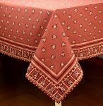 "Provencal Square Cotton Tablecloth Bric ""Roussillon"" 67"" x 67"