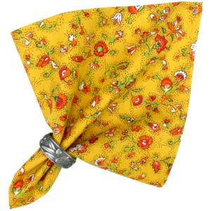 "French Cotton Napkin Yellow ""Country"" authentic Provencal design"