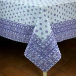"Provencal Rectangle Cotton Tablecloth Mauve ""Mistraou"" 63"" x 98.5"