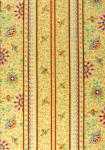 """Honeymoon"" Beige Border Stripe Fabric 55"""