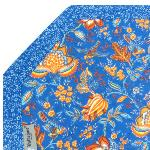 "Octogonal Provencal quilted cotton Placemat Blue ""Colombes"