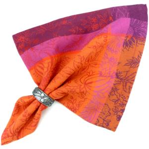 "Provencal Jacquard Dinner Napkin Orange ""Colombes"