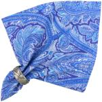 "French Cotton Napkin Blue ""Cashmere"" authentic Provencal design"