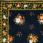 Provencal Quilted Cotton Placemat Black/Yellow 12x18