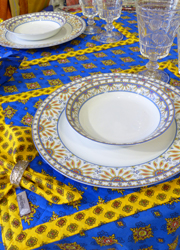 Provencal quilted cotton placemats