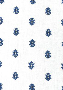 """White Lavandin"", 100% French country cotton fabric 59"