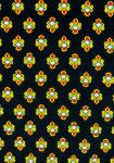 """Black Bastidin"", 100% Provencal country cotton fabric 67"