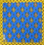 "Square French Table Mat Blue ""Batiste"" 30x30"