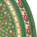 "Provencal Round Cotton Tablecloth green ""Floral"" 71"""