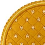 "Provencal Quilted Round Table Mats Ocre ""Roussillon"""